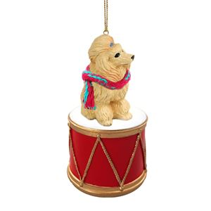 Christmas Drum.Raining Cats And Dogs Poodle Drum Dog Christmas Ornament