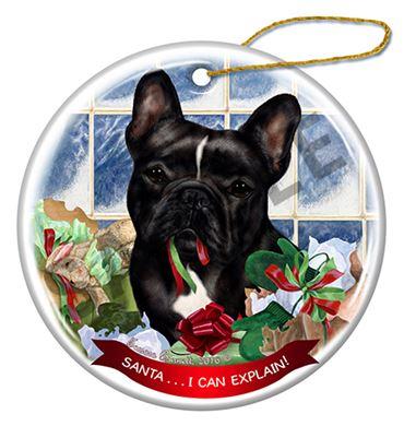 French Bulldog Christmas Ornament.French Bulldog Santa I Can Explain Dog Christmas Ornament