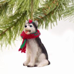 Raining Cats and Dogs | Siberian Husky Christmas Ornament