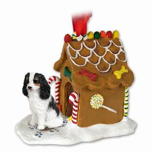 Raining Cats And Dogs Cavalier King Charles Gingerbread Christmas Ornament