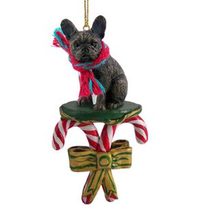 French Bulldog Christmas Ornament.Candy Cane French Bulldog Christmas Ornament Click For More Breed Colors