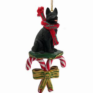 Raining Cats And Dogs Candy Cane German Shepherd Dog Christmas