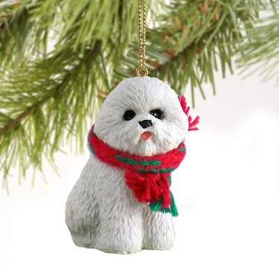 - Raining Cats And Dogs Bichon Frise Christmas Ornament