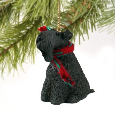 Raining Cats and Dogs | Kerry Blue Terrier Christmas Ornament
