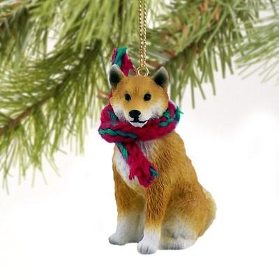 - Raining Cats And Dogs Shiba Inu Christmas Ornament