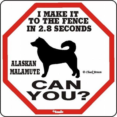 Alaskan Malamute 2.8 Fence Dog Sign