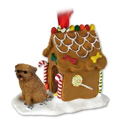 raining cats and dogs norfolk terrier gingerbread christmas ornament - Gingerbread Christmas Ornaments