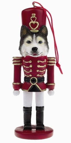 raining cats and dogs siberian husky nutcracker dog christmas ornament