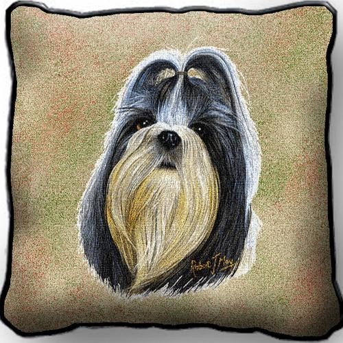 Raining Cats And Dogs Shih Tzu Pillow Made In The Usa