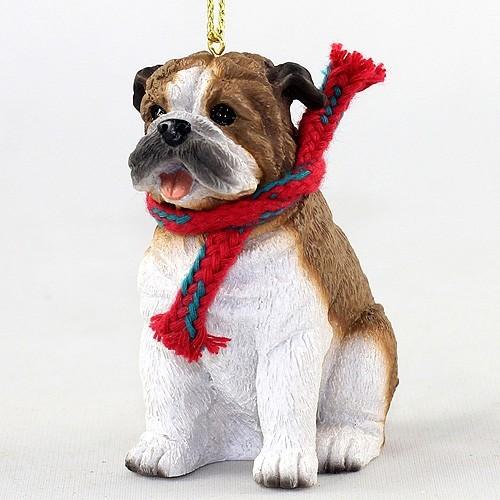 - Raining Cats And Dogs Bulldog Christmas Ornament