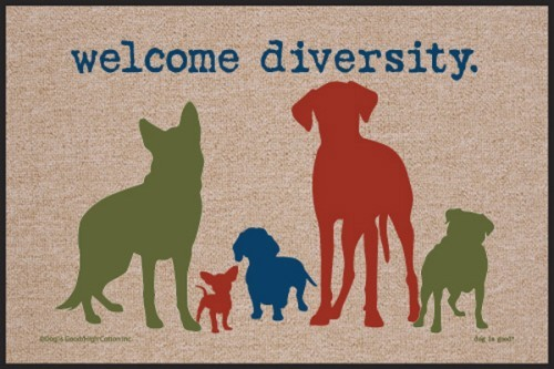 Raining Cats and Dogs | Welcome Diversity Door Mat