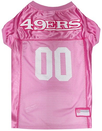 best loved 02198 59b6d Raining Cats and Dogs | San Francisco 49ers Pink Pet Football Jersey
