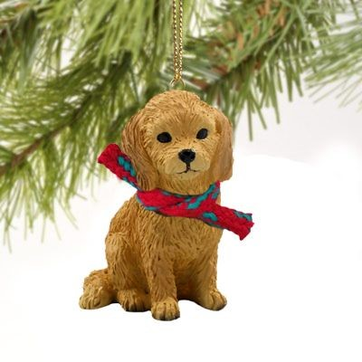 raining cats and dogs goldendoodle christmas ornament - Goldendoodle Christmas Decorations