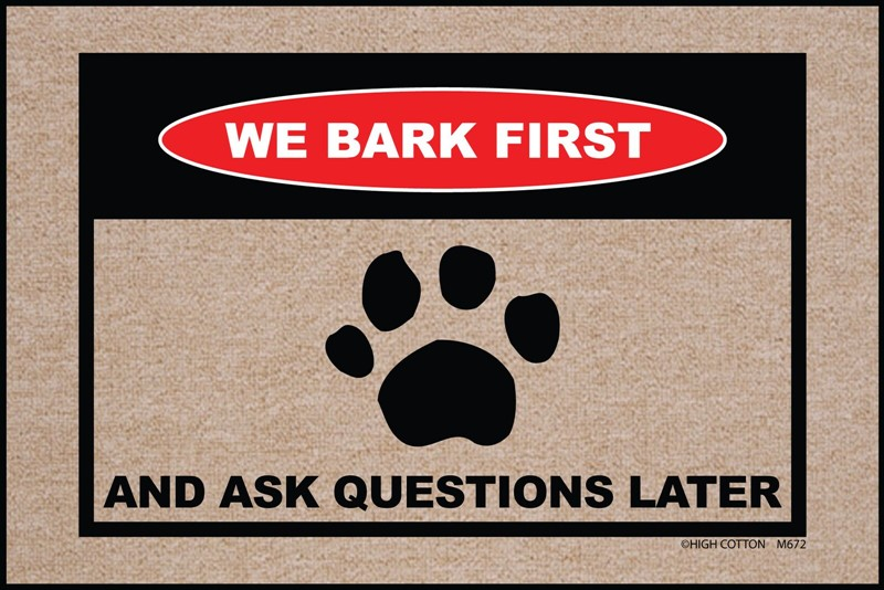 Raining Cats and Dogs | We Bark First Mat
