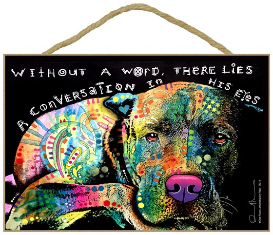 Raining Cats and Dogs | Pit Bull - Without a word, there lies a conversation in his eyes dog sign