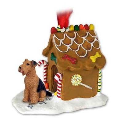 Airedale Gingerbread Christmas Ornament