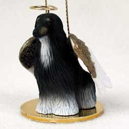 Afghan Hound Angel Ornament - click for more breed colors
