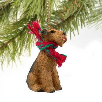 Airedale Christmas Ornament - Dog Christmas Ornaments, Dog Breed Christmas Ornaments, Dog