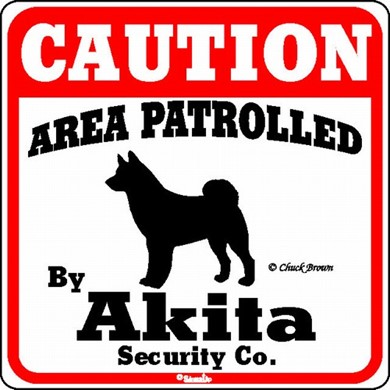 Akita Caution Sign, the Perfect Dog Warning Sign,
