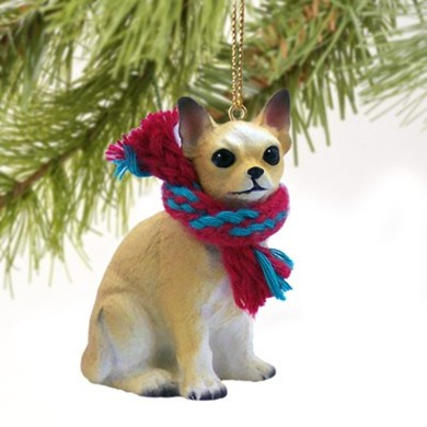 Chihuahua Christmas Ornament- click for more breed colors