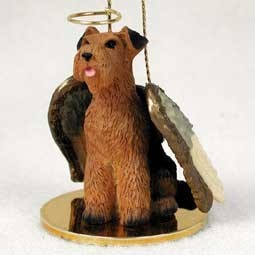 Airedale Terrier Angel Ornament