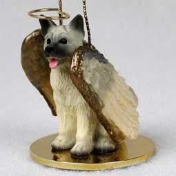 Akita Angel Ornament - click for more breed colors