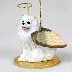 American Eskimo Angel Ornament- Click for more breed colors