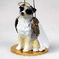 Australian Shepherd Angel Ornament - click for more breed options