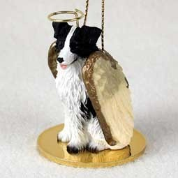 Border Collie Angel Ornament