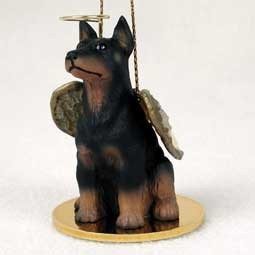 Doberman Dog Angel Ornament - click for more breed options