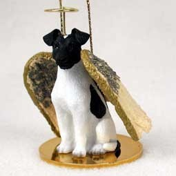 Fox Terrier Smooth Angel Ornament - click for more breed colors