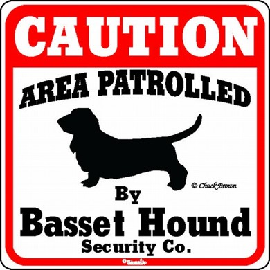 Basset Hound Caution Sign