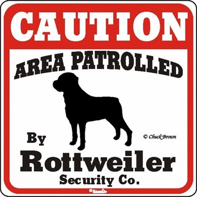 Rottweiler Caution Sign, the Perfect Dog Warning Sign
