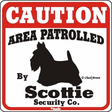 Scottish Terrier Caution Sign, the Perfect Dog Warning Sign