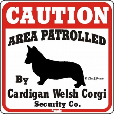 Welsh Corgi Cardigan Caution Sign, the Perfect Dog Warning Sign
