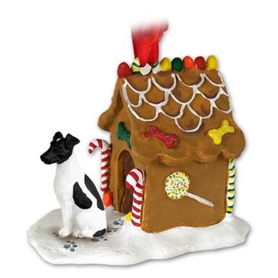Fox Terrier Smooth Gingerbread Christmas Ornament