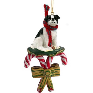 Candy Cane Jack Russell Terrier Christmas Ornament