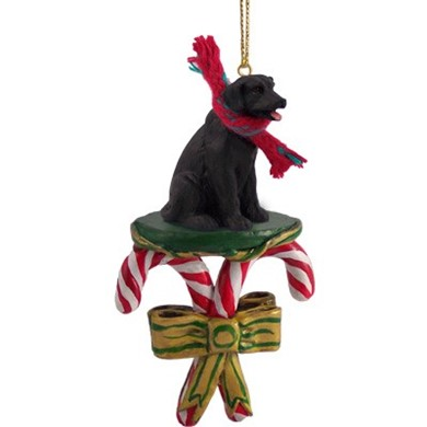 Candy Cane Labrador Retriever Christmas Ornament