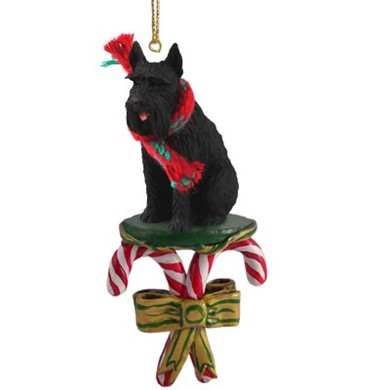 Candy Cane Giant Schnauzer Christmas Ornament