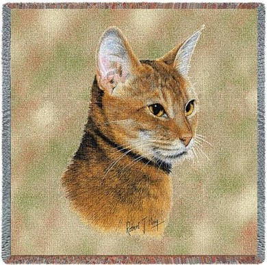 Abyssinian Cat Throw