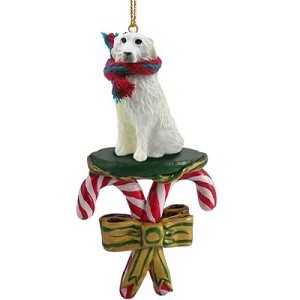 Candy Cane Great Pyrenees Christmas Ornament