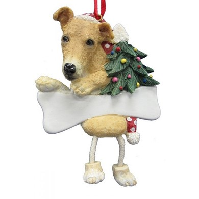 Greyhound Dangling Legs Dog Christmas Ornament