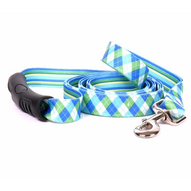 Uptown Blue and Green Argyle Leash