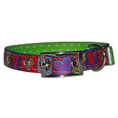 Uptown Crazy Hearts Buckle Collar
