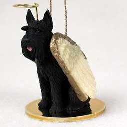 Giant Schnauzer Dog Angel Ornament - click for more breed colors