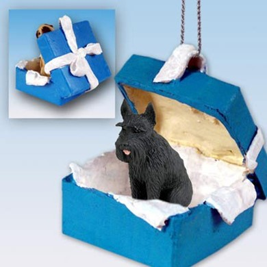 Giant Schnauzer Gift Box Holiday Ornament