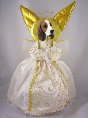 Basset Hound Angel Tree Topper