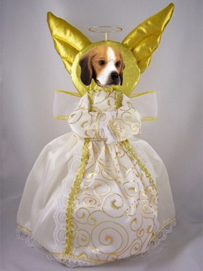 Beagle Angel Tree Topper