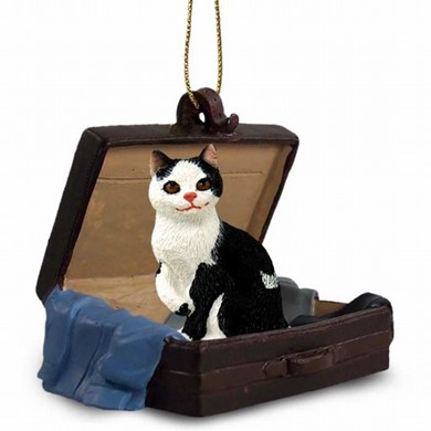 Manx Cat Traveling Companion Ornament