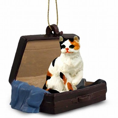 Calico Cat Traveling Companion Ornament